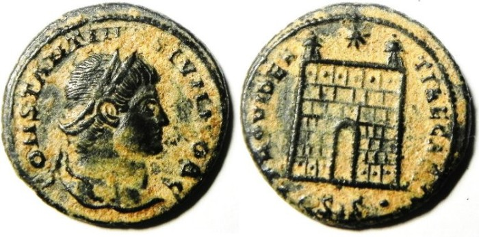 Ancient Coins - CONSTANTINE II AE 3 , AS FOUND, NICE