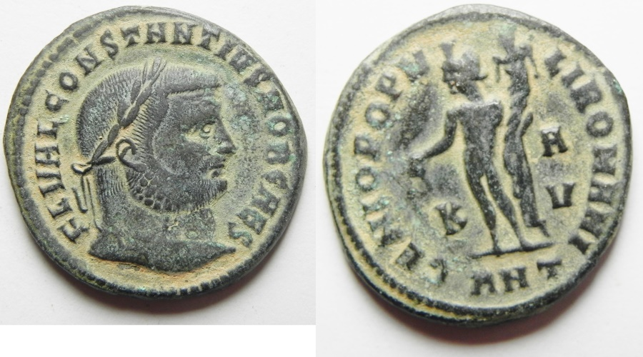 Ancient Coins - Constantius I. As Caesar Æ Follis. Antioch