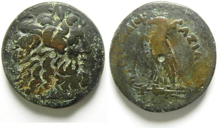 Ancient Coins -  PTOLEMAIC KINGDOM , PTOLEMY IV AE 35 , LARGE COIN