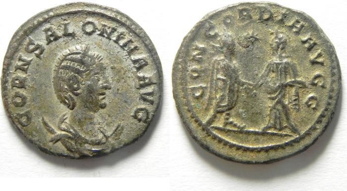 Ancient Coins - BEAUTIFULL SALONINA BILLON ANTONINIANUS