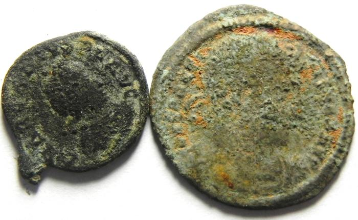 Ancient Coins - LOT OF 2 ROMAN AE COINS
