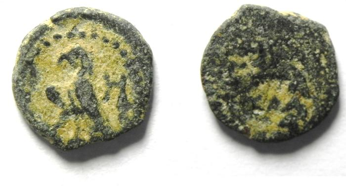Ancient Coins - NABATAEAN KINGDOM OF PETRA , ARETAS IV RARE AE 10 , EAGLE TYPE