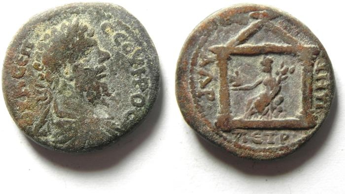 Ancient Coins - ARABIA , PETRA , SEPTIMIUS SEVERUS , ATTRACTIVE AE 21