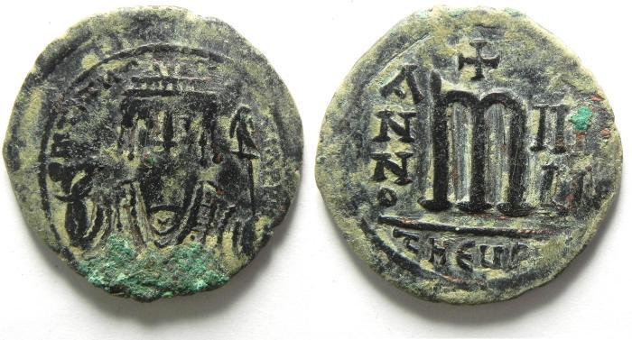 Ancient Coins - MAURICE TIBERIUS AE FOLLIS