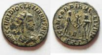 Ancient Coins - BEAUTIFUL AS FOUND. DIOCLETIANUS AE ANTONINIANUS