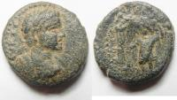 Ancient Coins -  Arabia(?). Esbus (?) under Elagabalus (AD 21-222). AE 21mm, 8.00g).