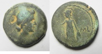 Ancient Coins - Egypt. Alexandria under Augustus. AE diobol (24mm, 10.50g). Struck in regnal year 41 (AD 11/12). Head of Livia