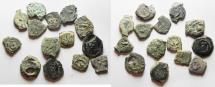 Ancient Coins - 14 Ancient Biblical Widow's Mite Coins of Alexander Jannaeus . AS FOUND!