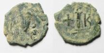 Ancient Coins - BYZANTINE. Constantine IV Pogonatus (668-685). Æ Decanummium (23mm, 4.65g). Constantinople mint. Struck 668-673.