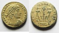 Ancient Coins - AS FOUND. ORIGINAL DESERT PATINA. CONSTANTINE II AE 4