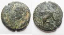 Ancient Coins - Alexandria under Domitian (AD 82-96). AE obol (17mm, 1.67g).