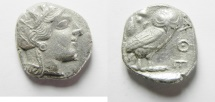 Ancient Coins - GREEK. Attica, Athens. AR Tetradrachm (15.44gm , 24mm). Struck c. 454-404 BC.