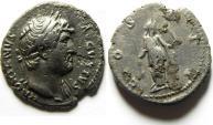 Ancient Coins - HADRIAN - SILVER DENARIUS , NICE AFFORDABLE COIN