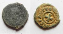 Ancient Coins - Axumite kingdom. Anonymous issue (c. AD 370). AE 15mm,