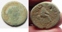 Ancient Coins - Phoenicia. Ptolemais-Ake . TRAJAN. TYCHE. AE 23