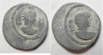 Ancient Coins - Antinoos: Egypt. Alexandria. Second-third centuries AD. Lead tessera (19mm, 4.43g)