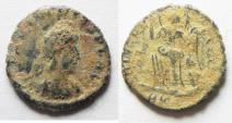 Ancient Coins - AS FOUND ROMAN AE 4
