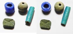 Ancient Coins - ANCIENT EGYPT, LOT OF BEADS (4 PCS). NEW KINGDOM. 1400 - 1100 B.C