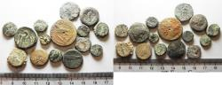 Ancient Coins - AS FOUND. LOT OF 15 GREEK BRONZE COINS