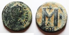 Ancient Coins - BYZANTINE. Justinian I, Follis. 543-544.