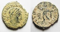 Ancient Coins - 	AS FOUND. IN IT'S ORIGINAL STATE: CONSTANTINE I AE FOLLIS