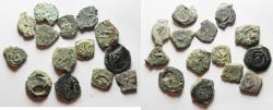 Ancient Coins - 14 Ancient Biblical Widow's Mite Coins of Alexander Jannaeus . AS FOUND!