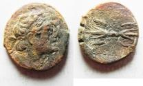 Ancient Coins - PTOLEMAIC KINGS of EGYPT. Ptolemy II Philadelphos. 285-246 BC. Æ 22. Kyrene mint. Struck under Magas