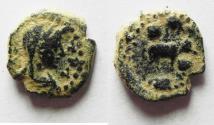 Ancient Coins - Decapolis. Philadelphia. Pseudo-autonomus issue. AE 13mm, 1.63g. Struck second century AD.