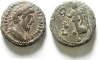 Ancient Coins - EGYPT , ALEXANDRIA , MARCUS AURELIUS AS AUGUSTUS AR TETRADRACHM , NICE QUALITY , NIKE, YEAR 2 , VERY RARE!!!!!