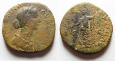 Ancient Coins - Faustina Junior AE sestertius