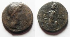 Ancient Coins - EGYPT. ALEXANDRIA UNDER AUGUSTUS. AE DIOBOL . STRUCK IN REGNAL YEAR 41 (AD 11/12). HEAD OF LIVIA