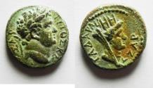 Ancient Coins - NICE QUALITY: DECAPOLIS. GADARA . TITUS AE 16