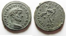 Ancient Coins - BEAUTIFUL . HIGH QUALITY MAXIMIANUS AE FOLLIS
