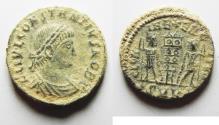 Ancient Coins - AS FOUND CONSTANTIUS II AE 3