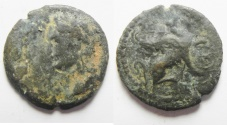 Ancient Coins - Alexandria under Domitian (AD 82-96). AE obol (17mm, 1.67g).