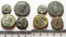 Ancient Coins - LOT OF 4 PROVINCIALS. AE. MOSTLY BIBLICAL