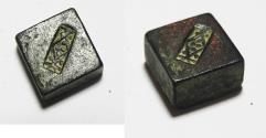 Ancient Coins - ANCIENT HOLY LAND. ISLAMIC. BRONZE INSCRIBED WEIGHT. MAMLUK OR EARLIER. 1 DIRHAMS. COUNTERMARKED