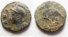 Ancient Coins - ORIGINAL DESERT PATINA. CONSTANTINE I AE 3 . COMMEMORATIVE. ROME. SHE-WOLF
