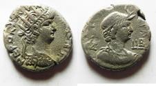 Ancient Coins - EGYPT. ALEXANDRIA. NERO BILLON TETRADRACHM.