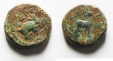 Ancient Coins - AS FOUND. DECAPOLIS . GERASA. PSEUDO-AUTONOMOUS ISSUE. 1ST-2ND CENT. A.D. AE 11
