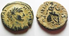 Ancient Coins - CHOICE AS FOUND: Judaea. Galilee. Tiberias. Trajan. 98-117 CE. AE 23