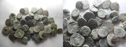 Ancient Coins - LOT OF 50 ANCIENT BRONZE COINS. MOSTLY JUDAEAN PRUTOT