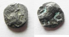 Ancient Coins - ARABIA, Southern. Saba'. Late 4th–mid 2nd centuries BC. AR tmrt – Quarter Unit (11mm, 0.94 g). Imitating Athens.