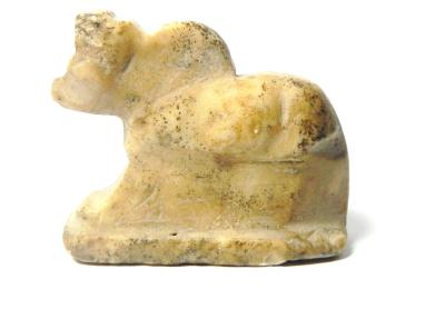 Ancient Coins - RARE EARLY ANCIENT EGYPTIAN MARBLE HUGE  AMULET OF A BULL , 1295 - 1185 B.C - 19TH DYNASTY