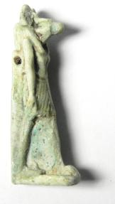 Ancient Coins - ANCIENT EGYPT , 600 - 300 B.C , FAIENCE AMULET OF ANUBIS , BEAUTIFULL AND ELEGANT!!!!