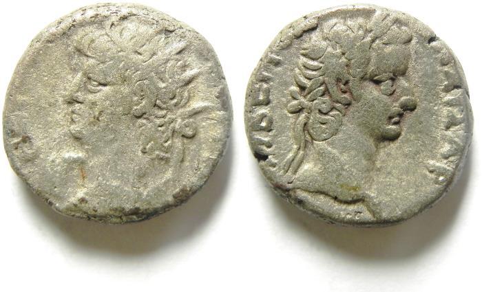 Ancient Coins -  EGYPT , ALEXANDRIA , NERO BILLON TETRADRACHM, TIBERIUS BUST , nice quality!!!!