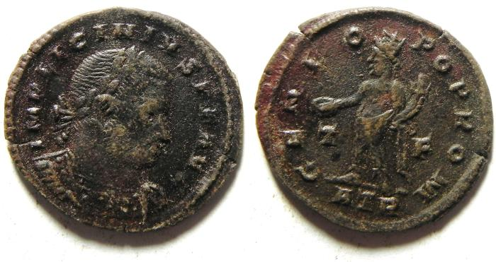 Ancient Coins - LICINIUS I AE FOLLIS , NICE