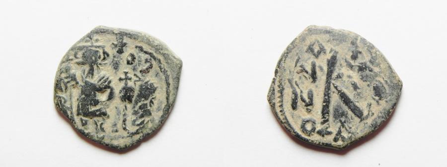 Ancient Coins - BYZANTINE; HERACLIUS AE FOLLIS