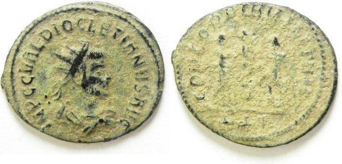 Ancient Coins - DIOCLETIAN ANTONINIANUS AS FOUND , CHOICE , LIGHT SANDY PATINA