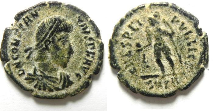 Ancient Coins - CONSTANTIUS II AE 3 , VERY NICE PATINA